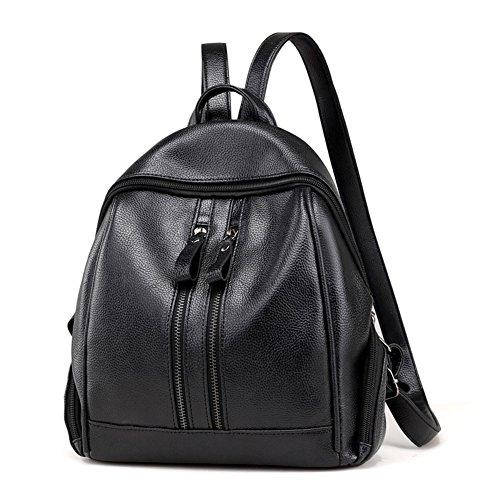 CILLA Top Handle Backpack for Women Casual Mini Rucksack Travel Bookbag For Girls (Black)