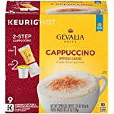 Gevalia Cappuccino K-CUP Pods and Froth Packets 9 Count (Pack of 6)