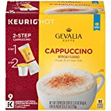 Gevalia Cappuccino K-Cup Pods and Froth Packets, 36 Count (4 Packs of 9)