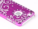 5c ulak full protection - Pandamimi Deluxe Rose Pink Bling Diamond Rhinestone Aluminum Chrome Hard Case Cover for Apple iPhone 5 5G , Screen Protector