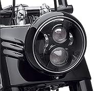 Dot Approved 7Inch Black LED Daymaker Headlight for Harley Davidson Motorcycle Tour,FLD,Softail Heritage,Street Glide,Road King,Electra Glide,Yamaha V-Star Road Star Jeep Wrangler