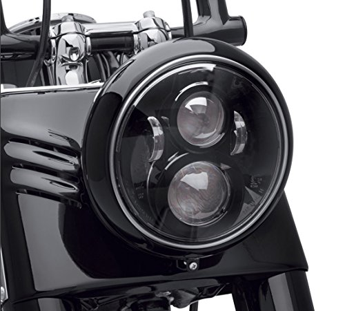 Dot Approved 7Inch Black LED Headlight for Motorcycle Tour,FLD,Softail Heritage,Street Glide,Road King,Electra Glide,Yamaha V-Star Road Star Jeep Wrangler