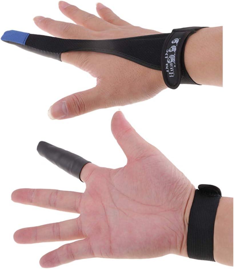 CUTICATE 2pcs Professioneller Skidproof Fischen Handschuh Einzelner Finger F/ür Sport Im Freien