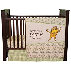 Trend Lab Dr. Seuss The Lorax Boy's 3 Piece Crib Bedding Set, Natural
