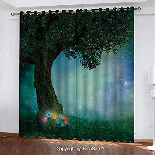 Thermal Insulated Blackout Curtains Fairytale Little Red Riding