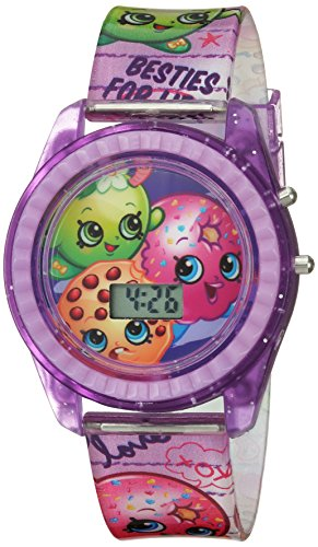 Shopkins Girl's Quartz Plastic Casual Watch, Color:Purple (Model: KIN4116)