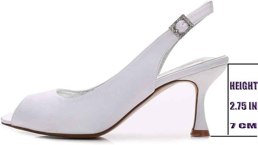 Pumps, Sling Back Open teen Ankle buckle kleding schoenen bruid bruidsmeisje partij prom fashion comfortabele lage hakken schoenen van het huwelijk Black