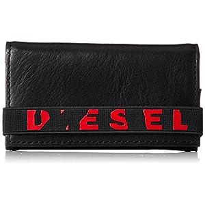 Diesel Men's Raised up Keycase P-Wallet and Key Holder, Black, One Size
