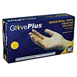 AMMEX - IVPF42100 - Vinyl Gloves - GlovePlus - Disposable, Powder Free, Non-Sterile, 4 mil, Small, Clear (Case of 1000)