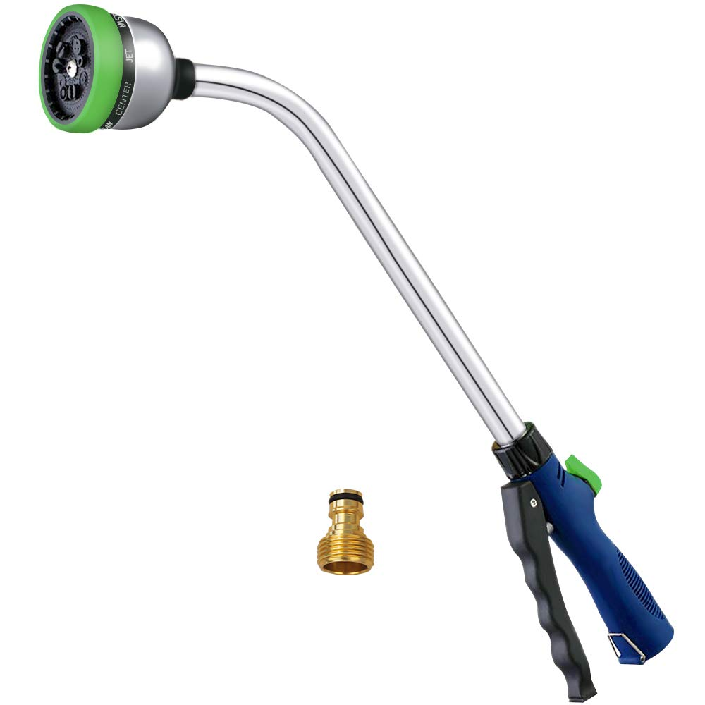 MyLifeUNIT 18 Inch Garden Watering Wand, Aluminium 9 Pattern Watering Spray Wand by MyLifeUNIT
