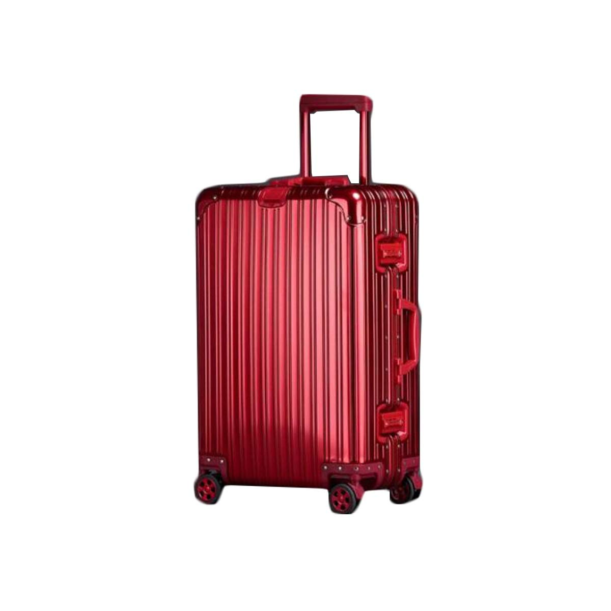 Color : Red, Size : 20 Inches Suitcase Bahaowenjuguan Hard Travel Bag Travel Organizer Simple 20 Inches Blue Trolley Case