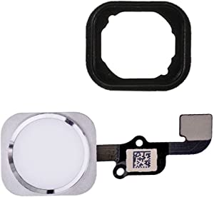 FirefixTM for Iphone 6 and 6 Plus Home button with flex cable and Rubber Gasket assembly (Silver)