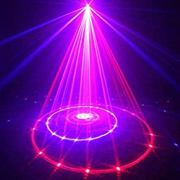 Sumger MB-12 12 Patterns Red Blue Professional Led Stage Lights RB Laser Projector Party Effect Club Bar DJ Disco Home Lights