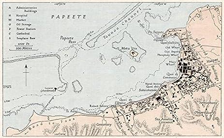 Amazon.com: PAPEETE. French Polynesia. WW2 ROYAL NAVY INTELLIGENCE ...