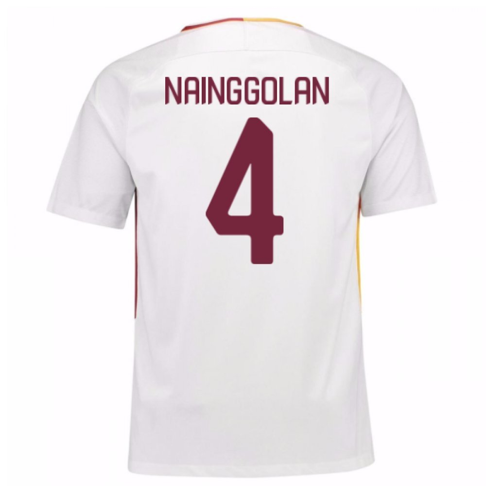 2017-18 Roma Away Football Soccer T-Shirt Trikot (Radja Nainggolan 4) - Kids