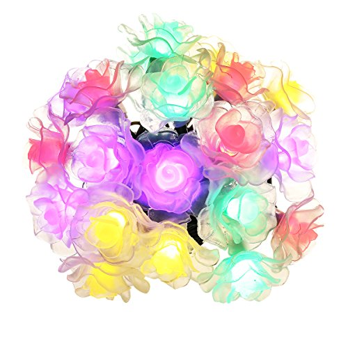 Cymas Solar String Lights, 15.7ft 20 LED Waterproof Outdoor Decorative Lights for Party, Garden, Patio, Lawn and Garden