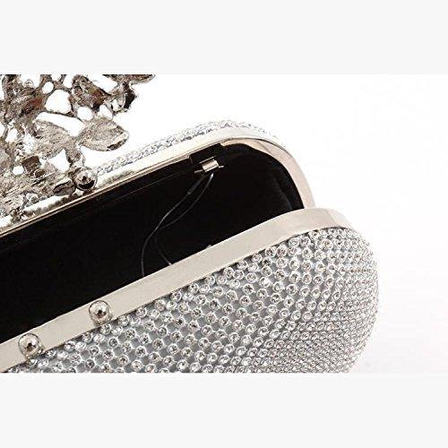 Pochette Lady Sac Sac Avec Black De Soirée Avec YXLONG Robe Nouveau Sac Banquet Femme Soirée Strass Sac Diamant Diamant De T0qOTgw