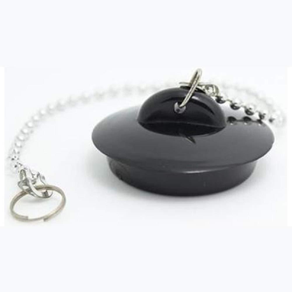 Stopper Plug with Ball Chain, Denshine Kitchen Sink Bathroom Bathtub Plug Drain Stopper Plug with Ball Chain