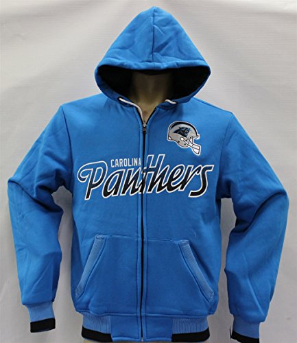 Carolina Panthers Script Reversible Hoodie Jacket - MED