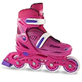 Crazy Skates Adjustable Inline Skates for Girls | Beginner Kids Rollerblades