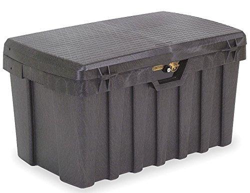 Lockable PRO-TUFF Storage Bin with Fitted Lock – BIG 200 Litre Extra Tough Locking Plastic Storage Truck Box Tack Tool…