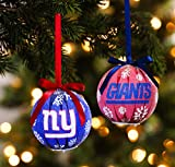 Team Sports America New York Giants LED Ornaments, Set of 8