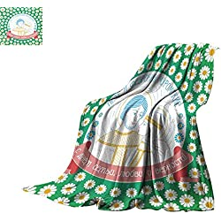 """Bed Cover Peter and Fevronia Muromskie Holiday Throw Blanket 60""""x35"""""""