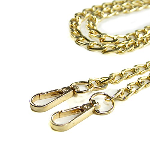 46in Gold Purse Chain Handbags Strap Gold Curve Replacement Curvy Body Shoulder Kroo Cross Chain q6FcOqd