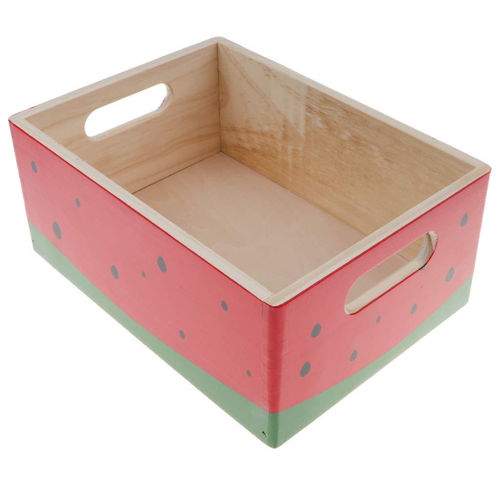 Fenteer Mini Holzkisten zum Nahrungsmittel für Kinder Kaufladen Rollenspiele - Naturfarbe