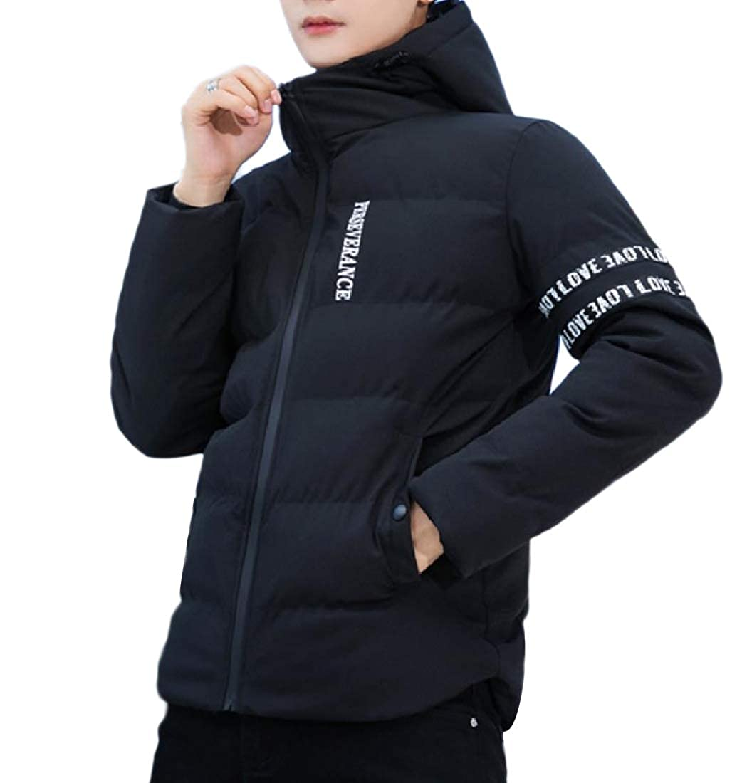 Comaba Men Outwear Brumal Thick Casual Hooded Puffer Padded Quilted Jacket