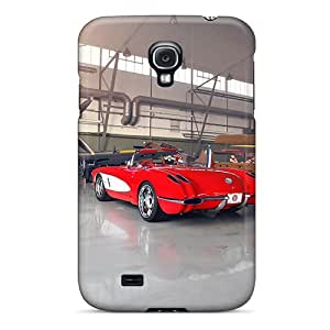 Case Cover Red Vette/ Fashionable Case For Galaxy S4