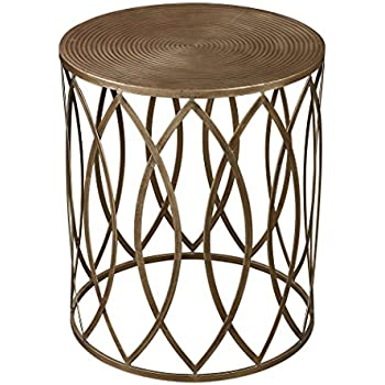 Nice Sutton Accent Table In Gold Leaf