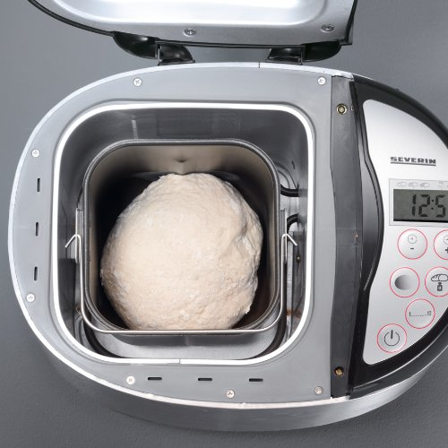 Severin BM 3989 - Panificadora (, de acero inoxidable cepillado de Negro/680 W/hasta 1000 g de pan: Amazon.es: Hogar