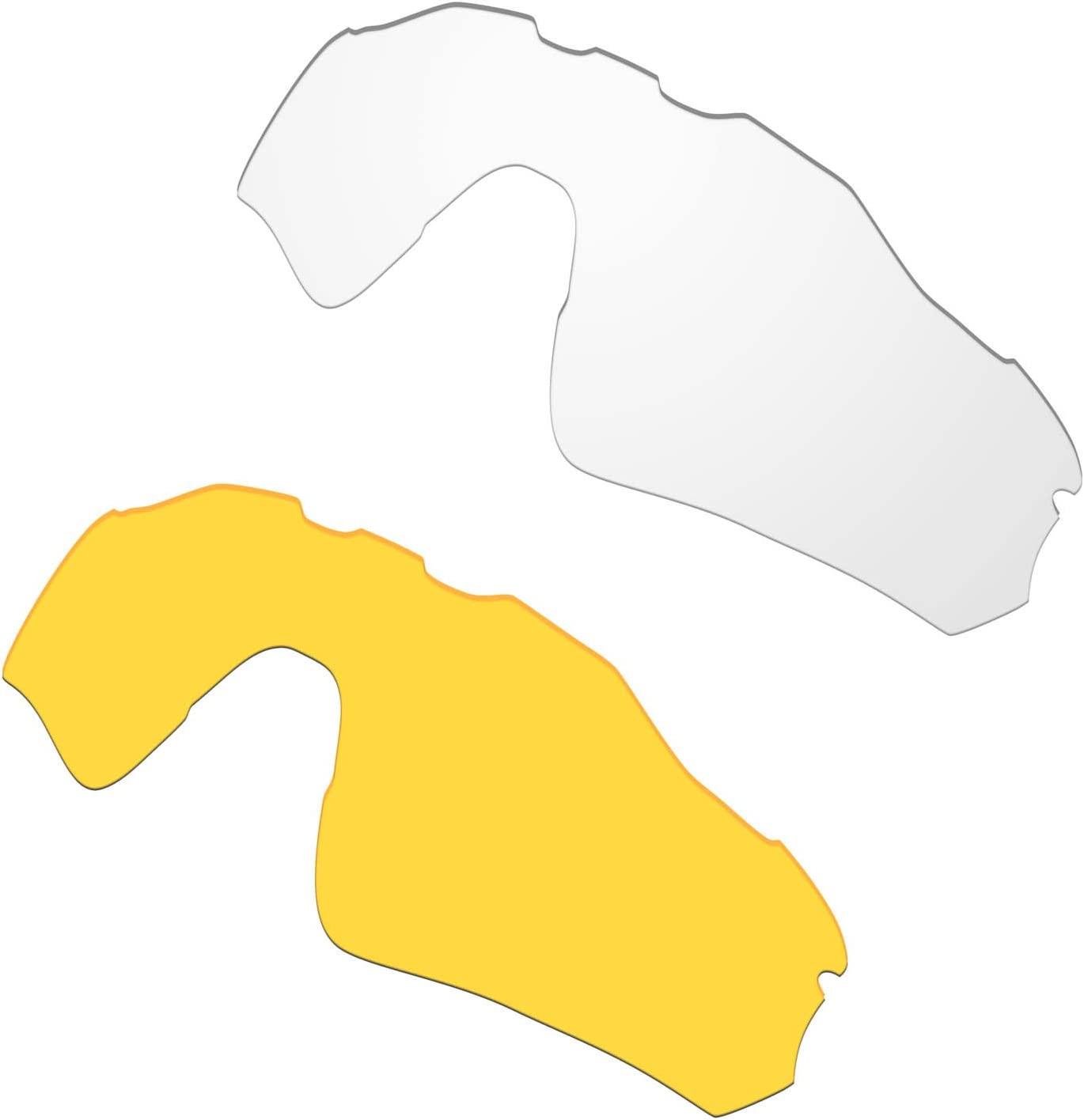 HKUCO Mens Replacement Lenses for Oakley Radar EV Path Sunglasses Transparent/Transparent Yellow