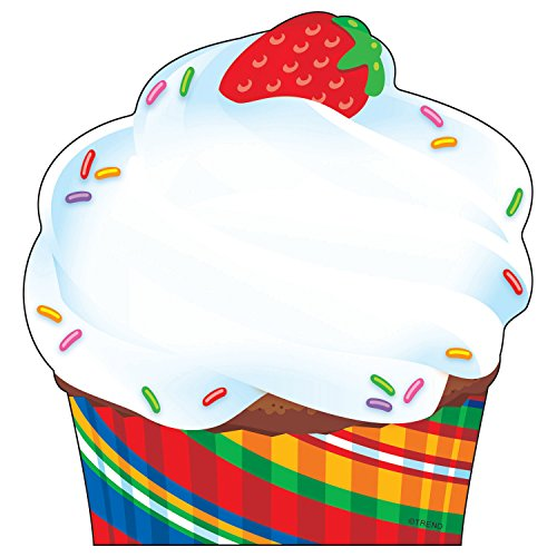 TREND enterprises, Inc. Cupcake The Bake Shop Note Pad-Shaped, 50 sheets