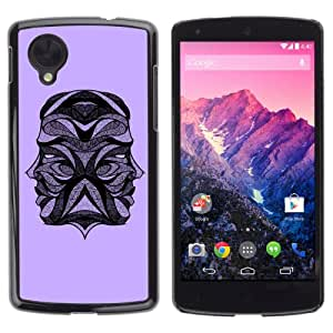 iKiki-Tech Estuche rígido para LG Google Nexus 5 - Tattoo Design Two Heads