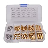 Sydien 120Pcs M3 Male Female Hex Brass Separator Screws Standoff Screw Nut Assortment Kit