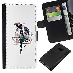 // PHONE CASE GIFT // Moda Estuche Funda de Cuero Billetera Tarjeta de crédito dinero bolsa Cubierta de proteccion Caso HTC One M9 / Abstract /