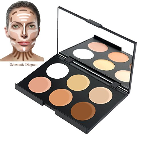 RUIMIO Contour Kit Cream Contour Palette 6 Colors with Makeup Brush Set by PIXNOR (Image #4)