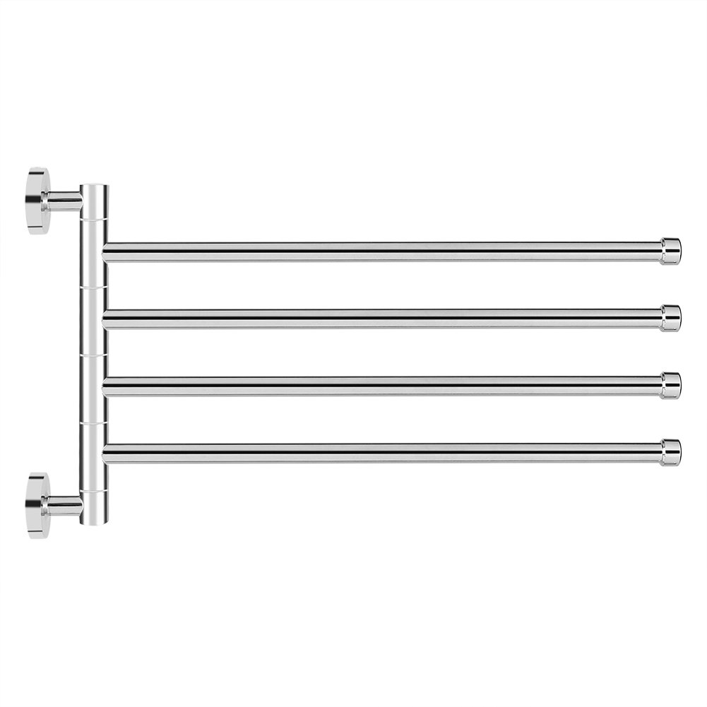 Rotating Towel Rack Stainless Steel Wall Mounted Hanger Holder Hook Organizer Home Kitchen Bathroom Accessories