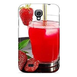 For Galaxy S4 Fashion Design Strawberry Drink Case-BULddTN4957vioaU