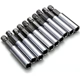 "XCSOURCE 10 Piece Magnetic Extension Socket Drill Bit Holder 1/4"" Hex Power Tools BI022"