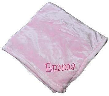 401b67aac Amazon.com: Custom Personalized Microfleece Baby Blanket (Light Pink): Baby