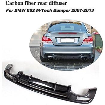 jcsportline Carbon Fiber Quad Exhaust Dual Outlet Rear Diffuser Lip fits BMW 1 Series E82 M-Sport 2 Door 2007-2013