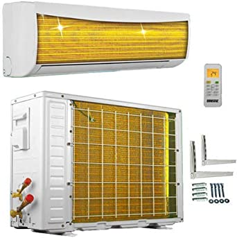 A++//A+ ECO Smart Inverter Golden-Fin 12000 BTU 3,5 kW Split Klimaanlage mit W/ärmepumpe INVERTER Klimager/ät und Heizung