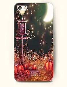 SevenArc iPhone 5 5s Case - Happy Halloween Cute Pumpkin Lantern And White Moon