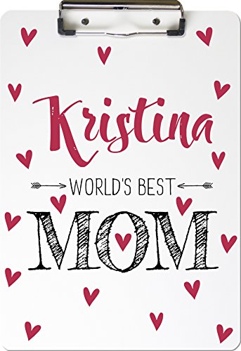 Personalized Clipboard (World's Best Mom) by Mountaincow