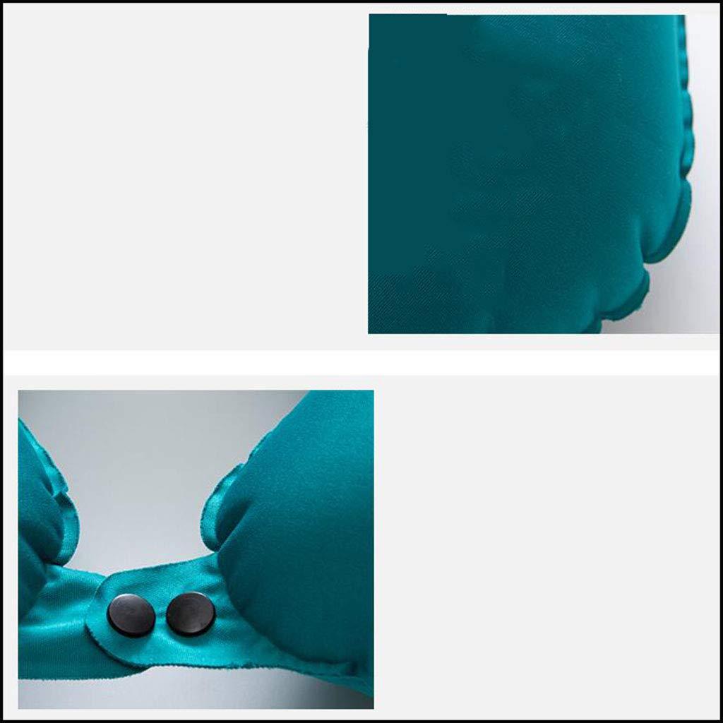 LYLLB-U shaped pillow Almohada De Viaje Viaje De Almohada Cervical Almohada Almohada Coche De Tren Almohada Adulto PortáTil Presionar Almohada En Forma De U Inflable AutomáTica 9d5736