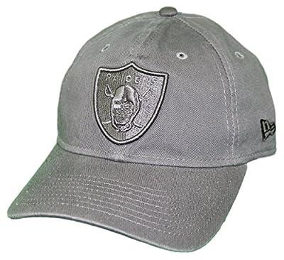 New Era Oakland Raiders NFL 9Twenty Classic Tonal Adjustable Graphite Hat from New Era