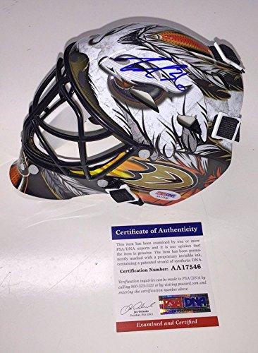 John Gibson Signed Anaheim Ducks Mini Replica Goalie Mask Coa - PSA/DNA (Signed Goalie Mask)